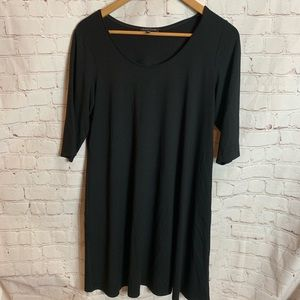 Eileen Fisher Black T-shirt Dress Size Medium